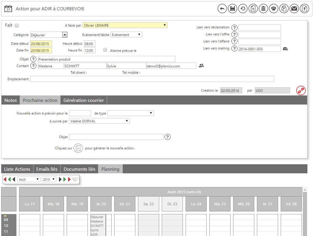 Formulaire dynamique et intéractif : exemple avec une fiche Action