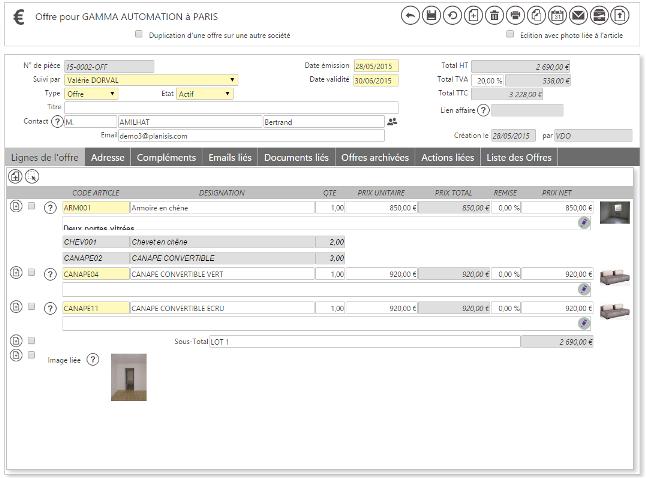 Formulaire dynamique et interactif : exemple avec une fiche Offre