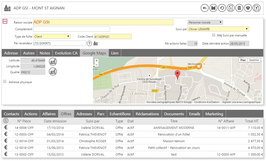 Formulaire dynamique et intéractif : exemple avec Google Maps