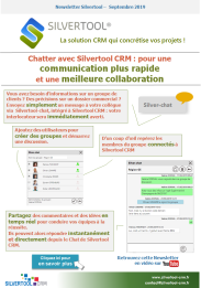 Newsletter septembre 2019 - Chatter avec Silvertool CRM